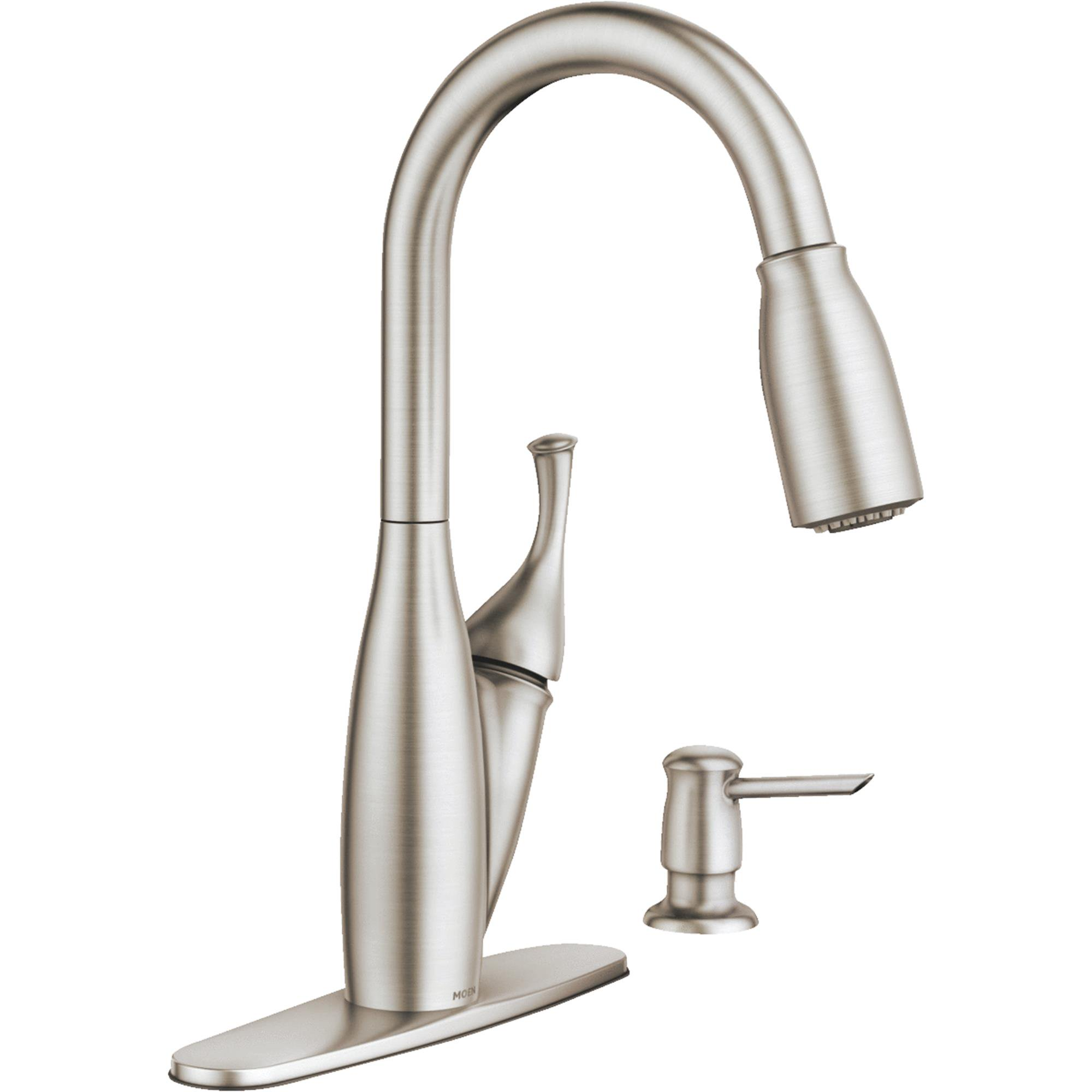 discontinued moen kitchen faucets moen kendall single handle pull kitchen faucet 17334