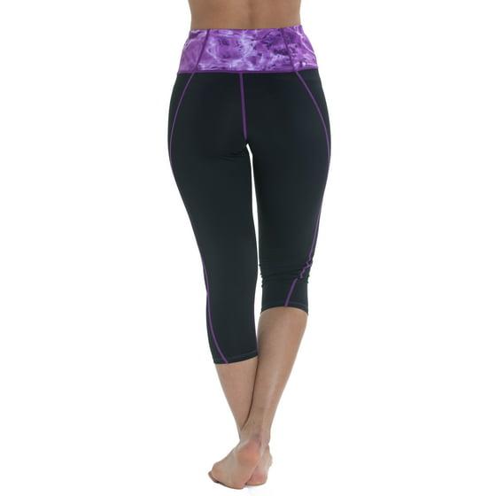 385f2419e8741 Aqua Design - Aqua Design Capri Workout Leggings with Pockets for Women -  Walmart.com