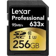 Lexar Professional 256 Gb Secure Digital Extended Capacity [sdxc] - Class 10/uhs-i [u3] - 95 Mb/s Read - 45 Mb/s Write - 633x Memory Speed (lsd256cbnl633)