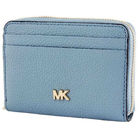 Michael Kors Small Pebbled Leather Wallet- Powder Blue (Michael Kors Wallet Blue)