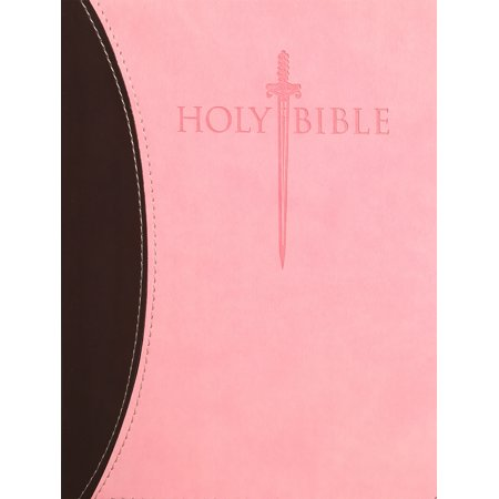 KJVER Sword Study Bible Personal Size Large Print Chocolate Pink Ultrasoft : King James Version Easy