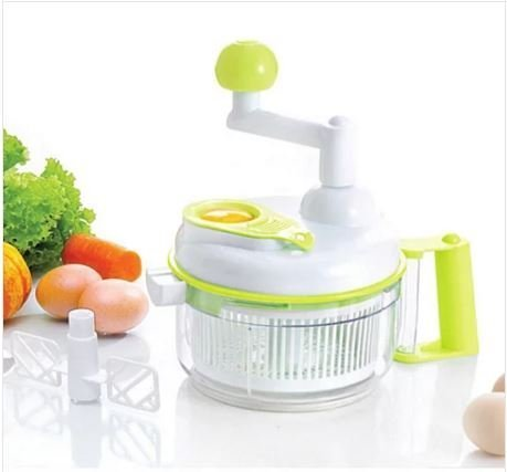 Slap Chop Slicer with Stainless Steel Blades Vegetable Chopper Gadget Mini for Salads Kitchen Accessory Duble cup