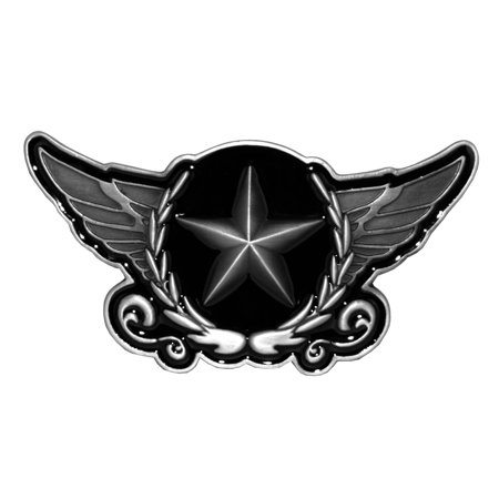 Army Star Crest Angel Wings Badge Belt Buckle