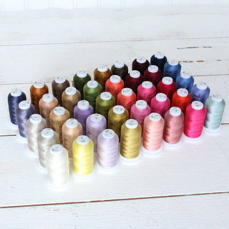 40 Spool Polyester Embroidery Machine Thread Set Brilliant Colors  500M Spools 40wt  For Brother Babylock Janome Singer Pfaff Husqvarna Bernina Machines - 4 Sets Available