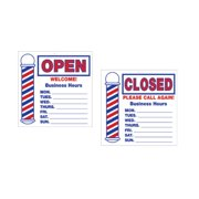 SCALPMASTER Barber Shop Open/ Closed Business Hours Sign Decoration BK-SC-9016