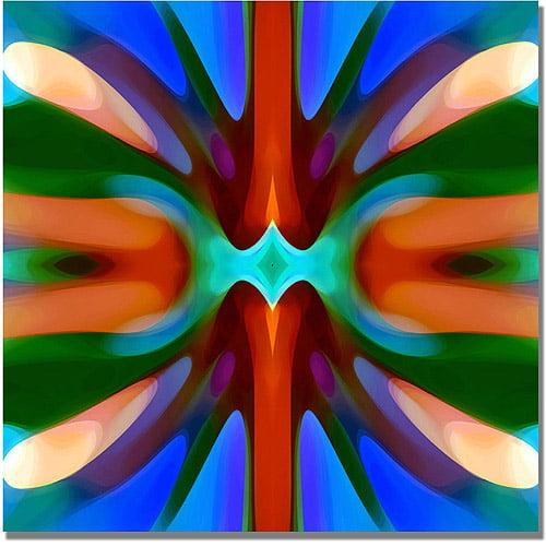 """Trademark Fine Art """"Tree Light Symmetry Blue Green"""" Canvas Wall Art by Amy Vangsgard"""