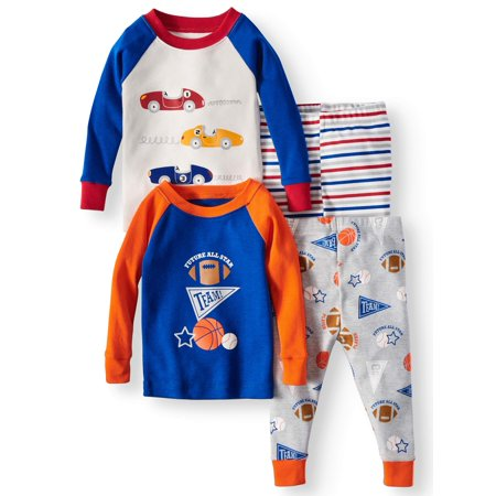 Wonder Nation Baby Boys' Cotton Tight Fit Pajamas, 2pc Set - Baby Wonder Woman Onesie