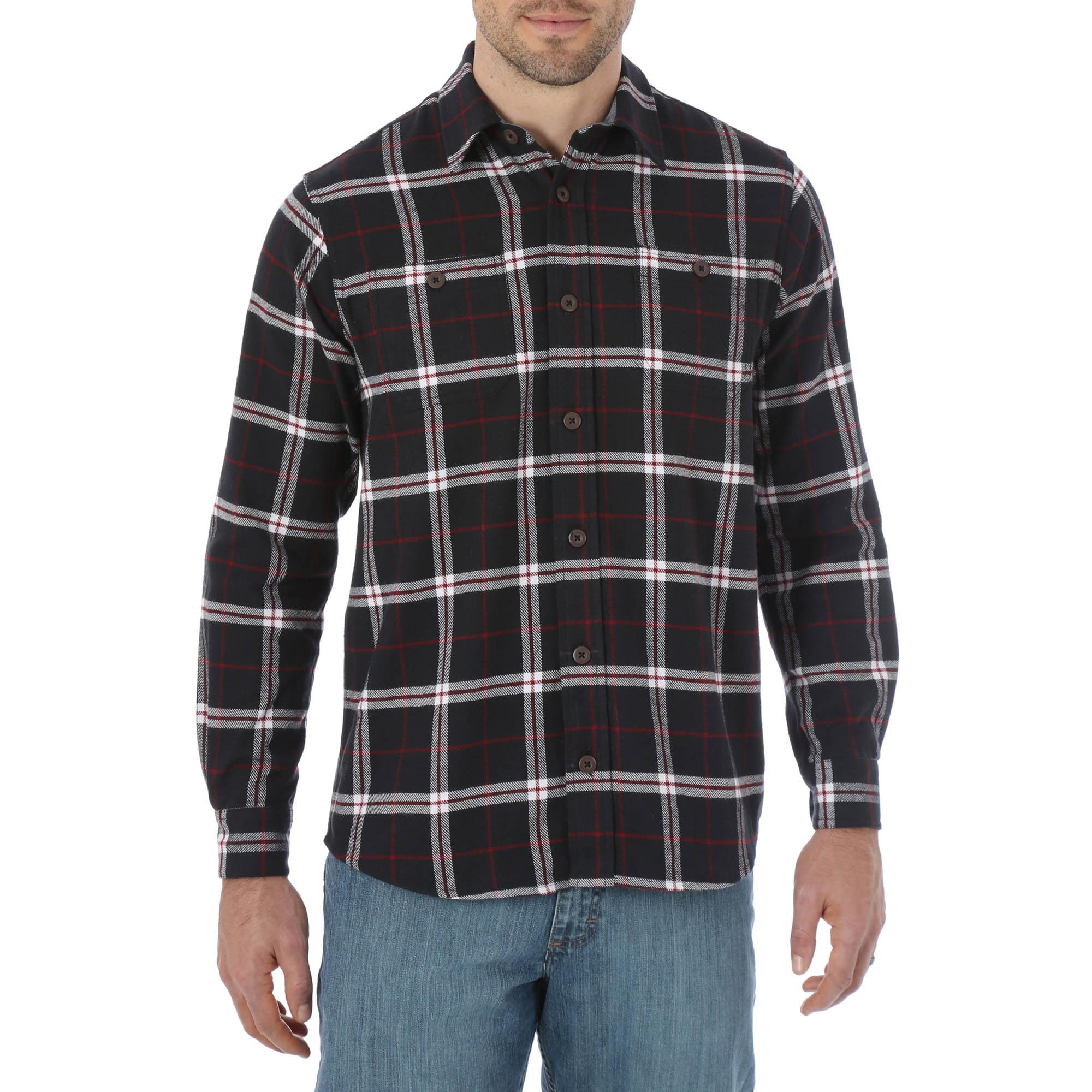 Wrangler Men's Premium Long Sleeve Flannel Shirt