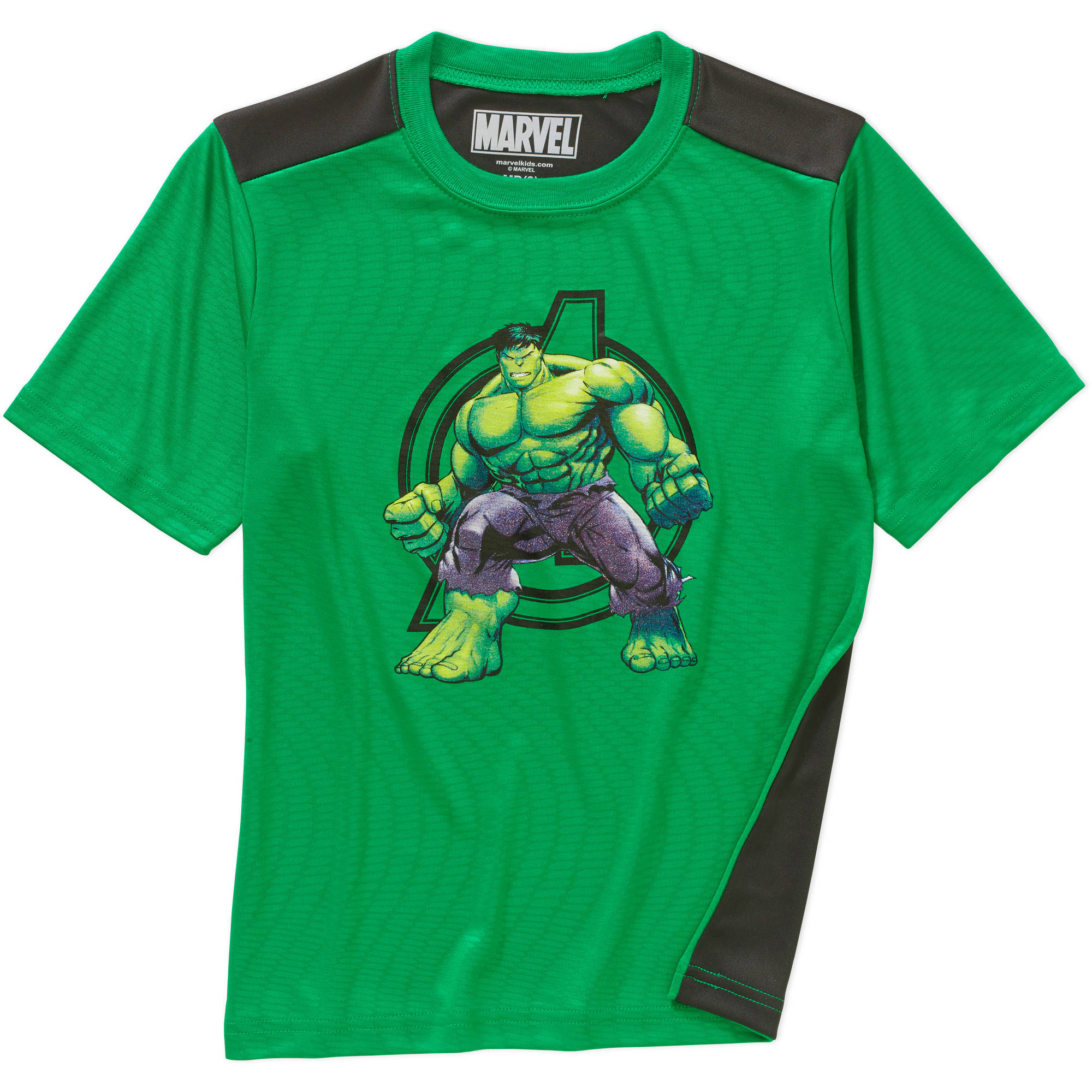 Marvel BDU Hulk Boys Poly Embossed Graphic Tee