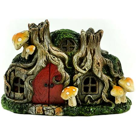 Fairy Garden LED Tree Stump House-6 25