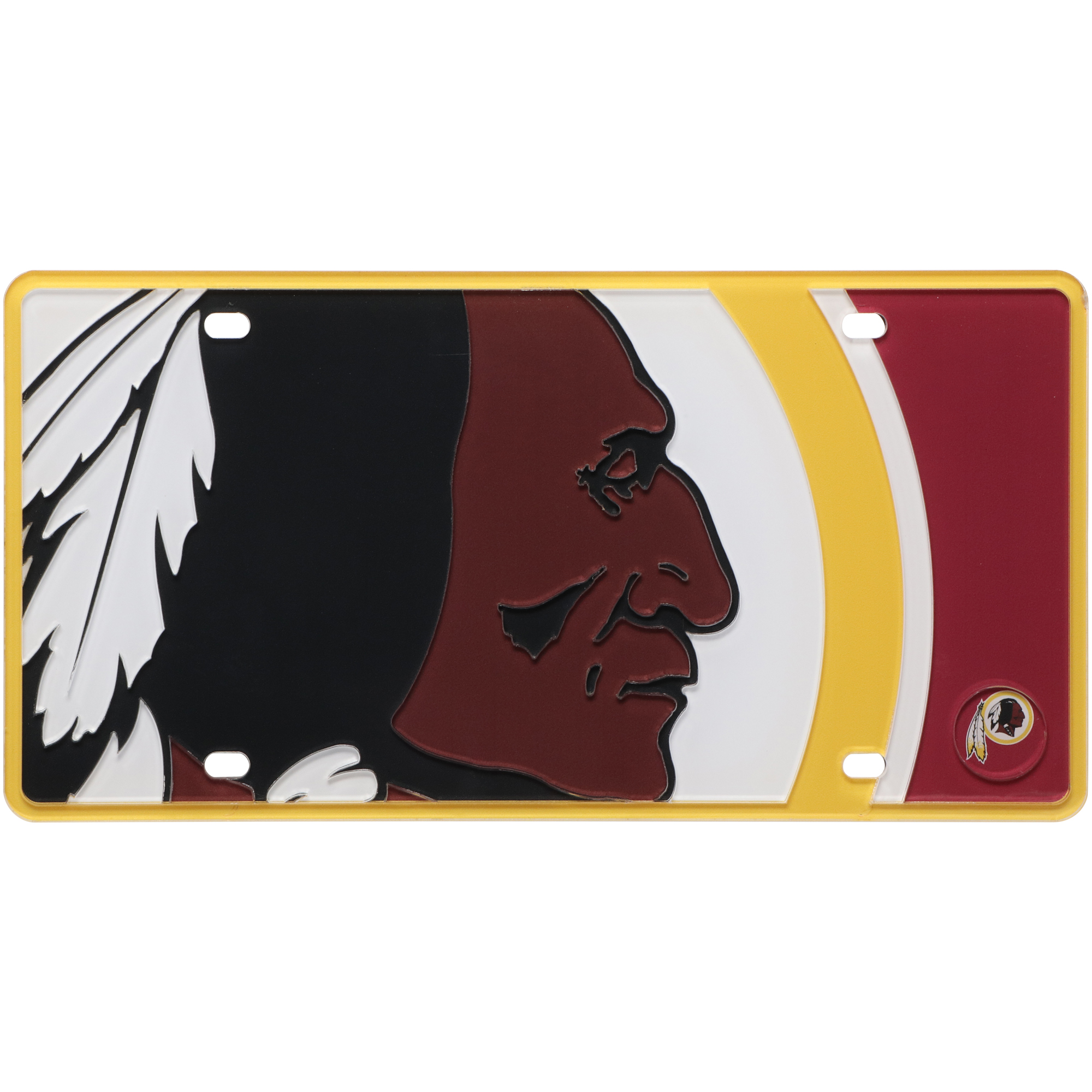Washington Redskins Mega Acrylic License Plate - No Size