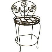 Plastec PS1018BK Rose Garden Plant Chair