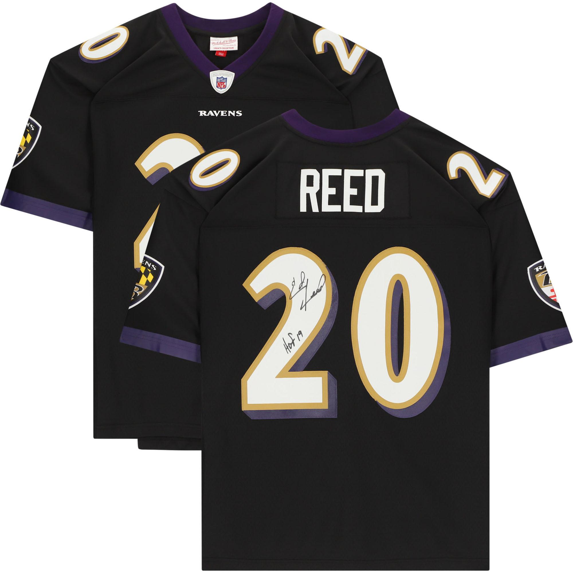 Ed Reed Baltimore Ravens Autographed Black Mitchell & Ness Replica Jersey with