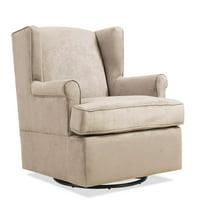 Handy Living Frederick Swivel Glider Arm Chair, Khaki