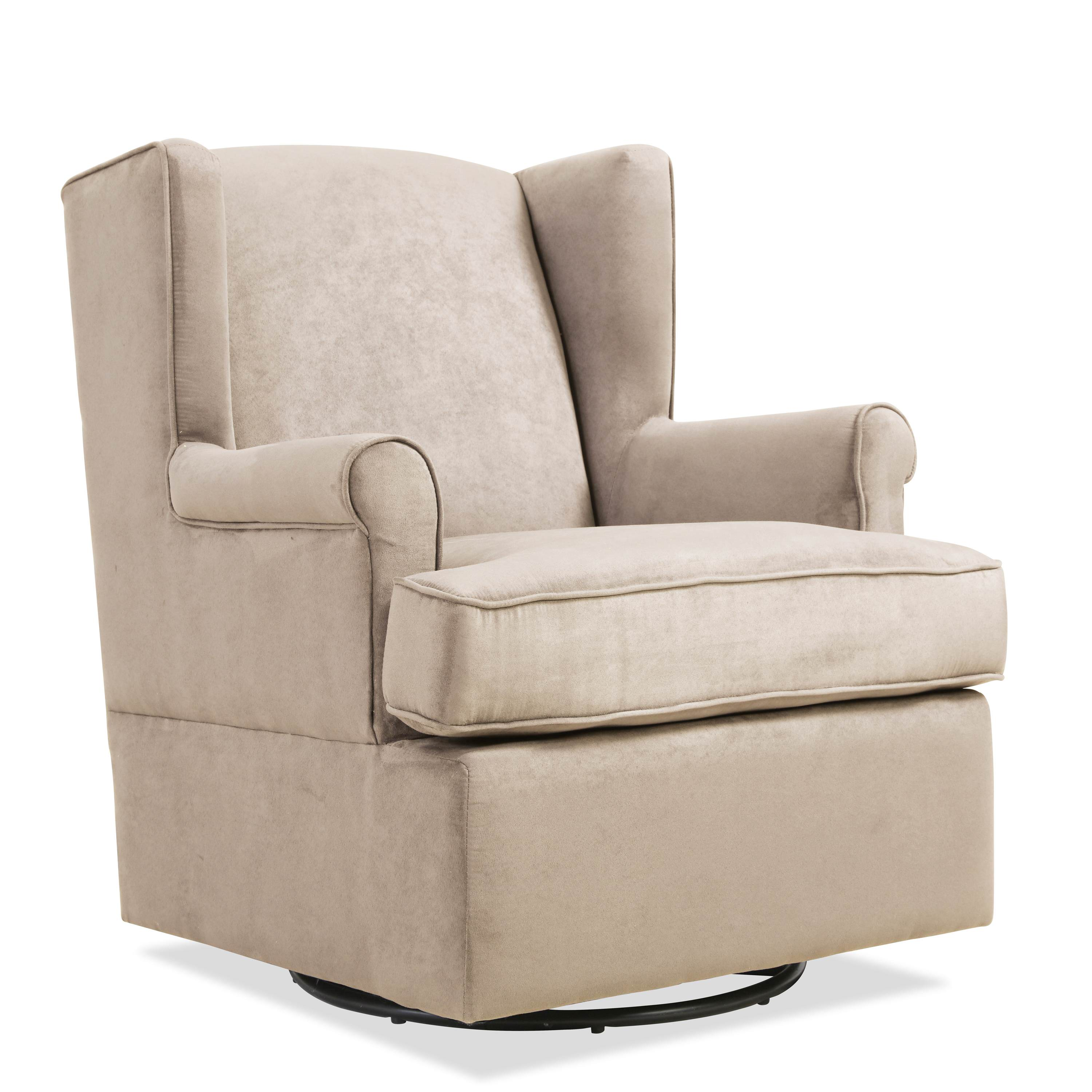 Handy Living Frederick Swivel Glider Arm Chair, Khaki