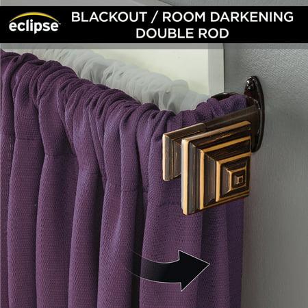 Eclipse Stacey Room Darkening Blackout Double Curtain Rod