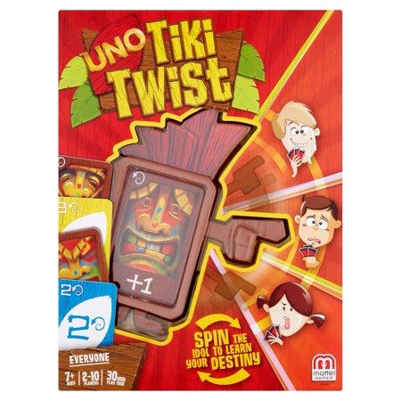 Mattel Games Uno Tiki Twist Card Game Ages 7