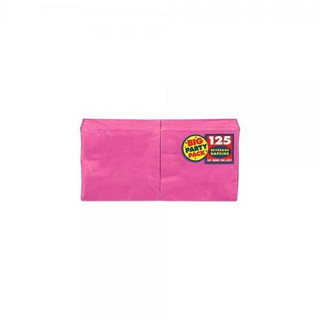Amscan Big Party Pack 125 Count Beverage Napkins, Pink](Amscan Com)