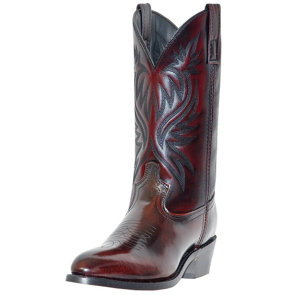 Laredo Western Boots Mens London Round Toe Cowboy Black C...