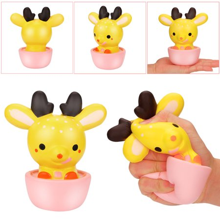 17cm Squishy Jumbo Cute Cup Deer Slow Rising Cream Squeeze Scented Cure Toy Gift