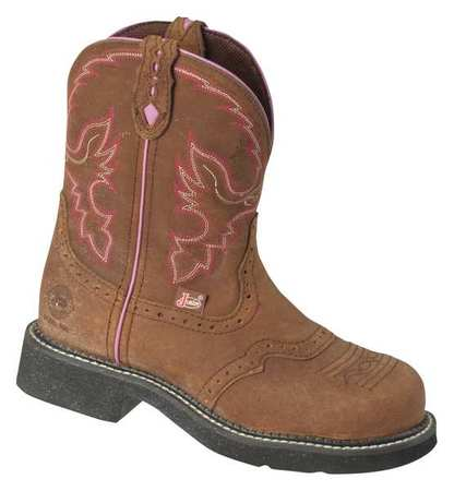 Justin Original Workboots Size 8 Steel Toe Work Boots, Women's, Brown, B, WKL9980