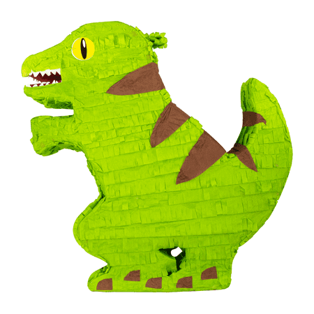 Green & Brown Dinosaur Party Pinata, 16in x 17in - Halloween Pinatas For Parties