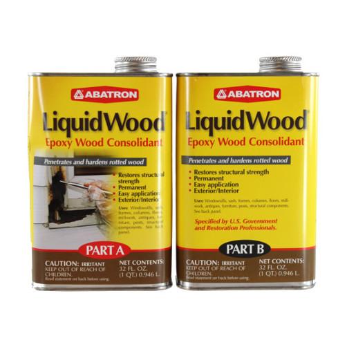 2 Part (A & B - 1 Quart Each) Liquid Wood Kit