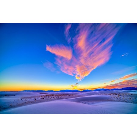 Sunset Colors Over White Sands National Monument New Mexico Canvas Art   Alan Dyerstocktrek Images  17 X 12