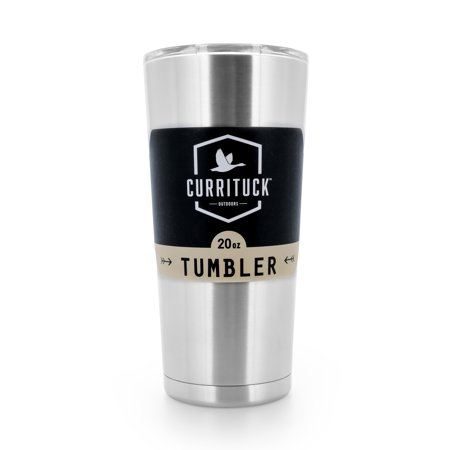 Currituck Heavy Duty Stainless Steel Tumbler Cup with Lid by Camco - Perfect for Travel, Camping, Hiking, The Beach and Sports, Won't Condensate - 20 oz (51861)](Travel Cups)
