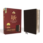 Niv, Life Application Study Bible, Third Edition, Large Print, Bonded Leather, Black, Red Letter Edition (Hardcover)