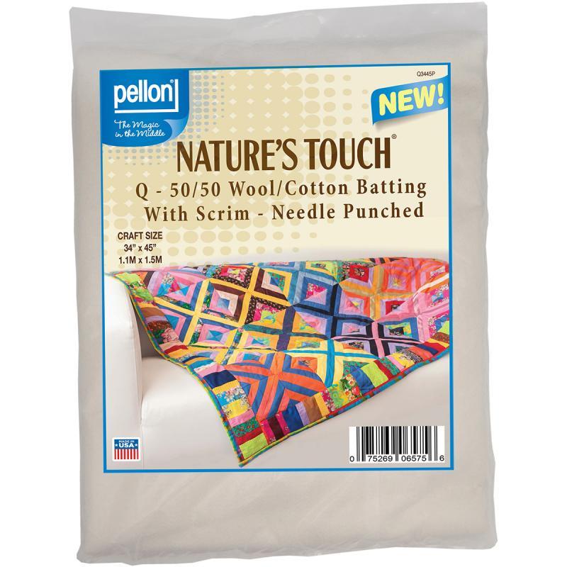 "Wool/cotton Blend Needlepunched Batting W/scrim-craft Size 34""x45"" Fob: Mi"