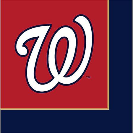MLB Washington Nationals Lunch Napkins (24ct) - Baseball Napkins