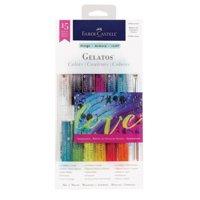 Faber Castell Gelatos Iridescent Colors Set, 15 Pieces