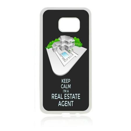 Keep Calm I'm a Real Estate Agent White Rubber Thin Case Cover for the Samsung Galaxy s7 - Samsung Galaxys7 Accessories - s7 Phone