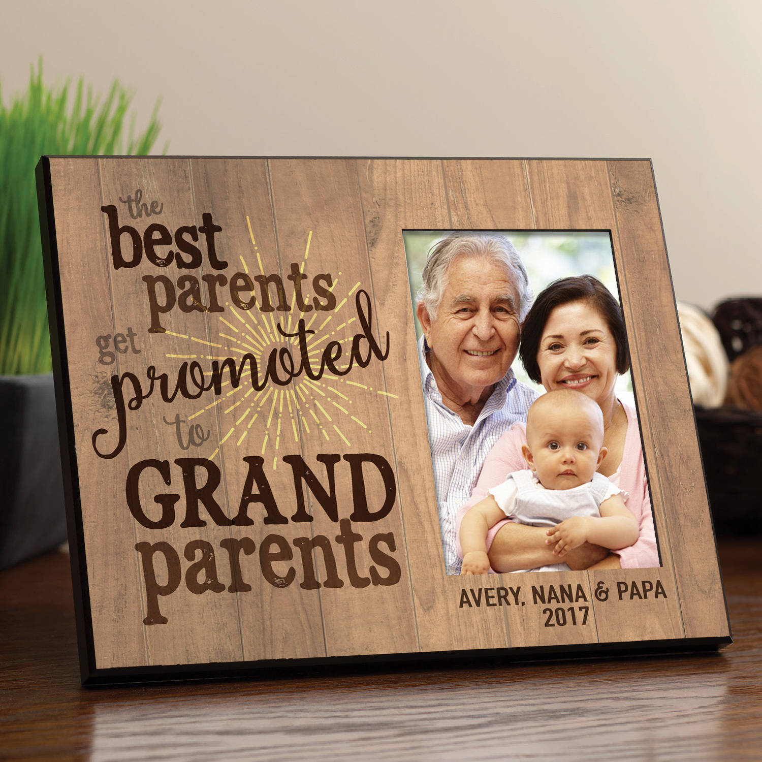 The Best Parents Get Promoted To Grandparents Personalized Frame
