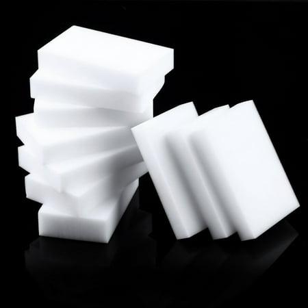 10 Pcs Magic Sponge Eraser Clean Cleaning Multi-functional Foam Cleaner White - image 1 of 7