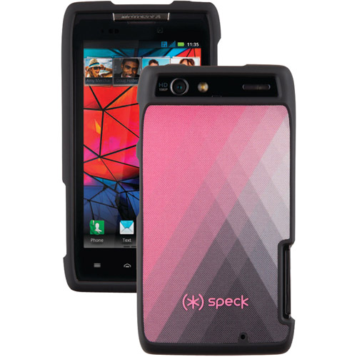 Speck Products Fitted Cell Phone Case for Motorola Droid RAZR - Diamond Fog Pink