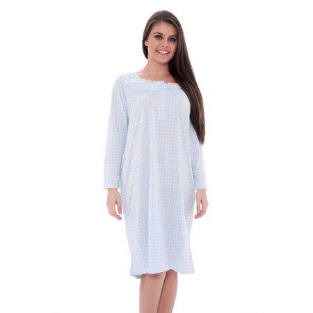 07b71f52df Unique Styles - Lace Trim Victorian Nightgown Long Sleeve Sleepwear Nightie  – Standard  amp  Plus Sizes - Walmart.com