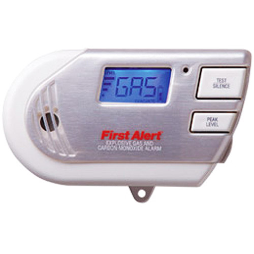 First Alert GCO1CN Combination Explosive Gas and Carbon Monoxide Alarm with Backlit Digital Display