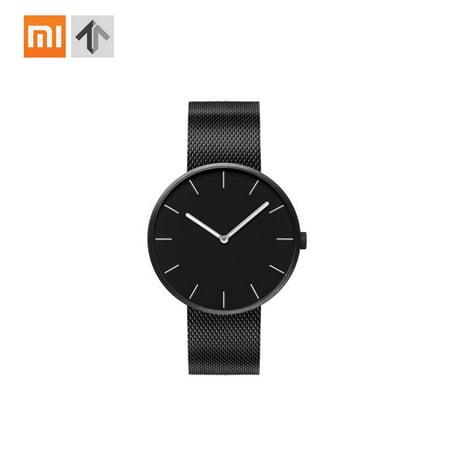 Xiaomi TwentySeventeen Analog Quartz Wrist Watch 39mm Luminous 3ATM Water Resistant Fashion Elegant Men Women Luxury Casual Genuine Leather Stainless Steel Band Optional Battery for 5 Years
