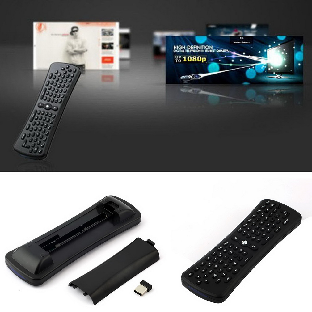 2.4GHz Mini Wireless Remote Mouse Receiver Gyroscope Sensing Keyboard for Android Smart TV Box for Desktop Laptop