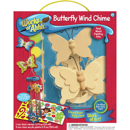 MasterPieces Works of Ahhh Butterfly Wind Chime Wood Paint Kit