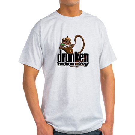 CafePress - Drunken Monkey Ash Grey T-Shirt - Light T-Shirt - CP