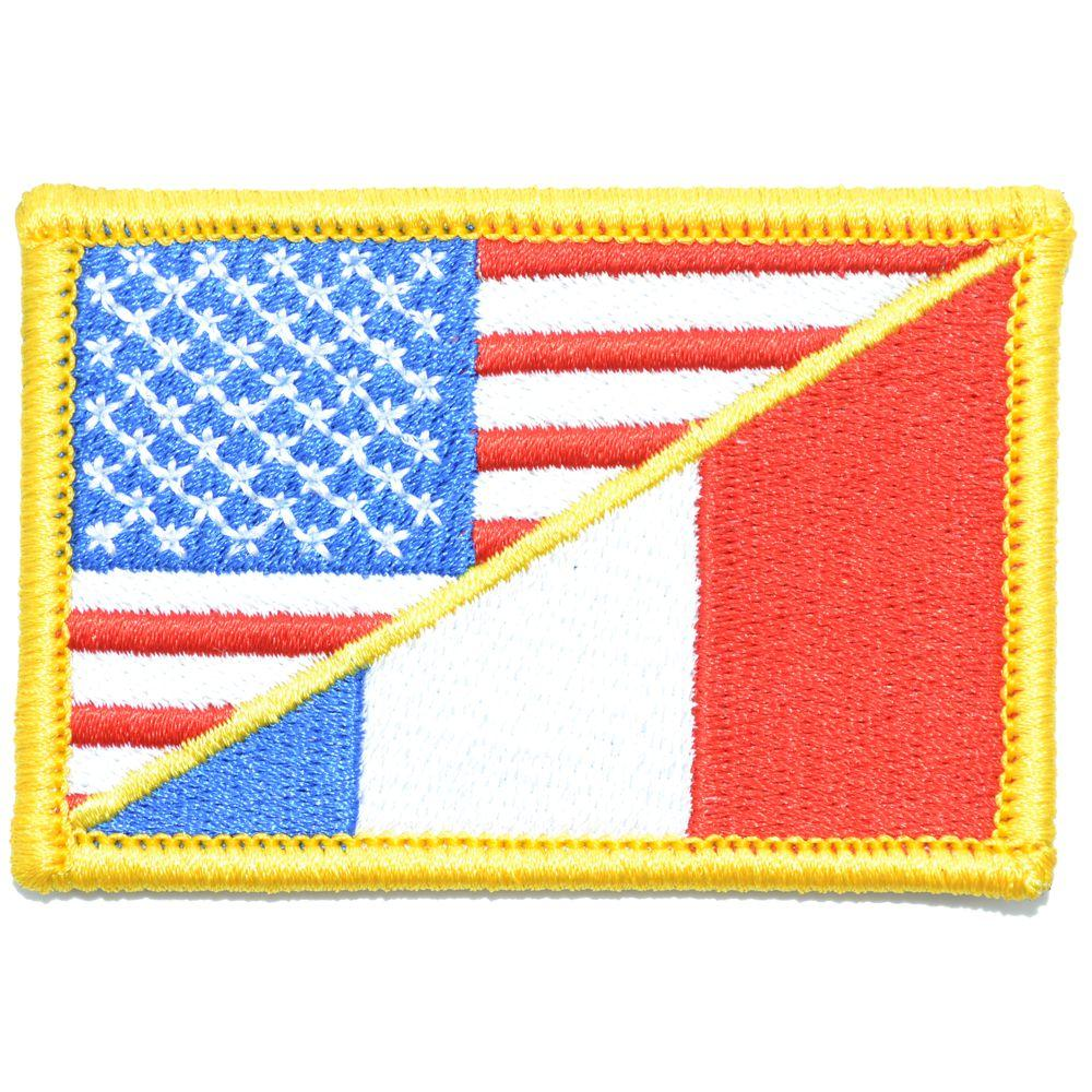 France / USA Flag - 2x3 Patch