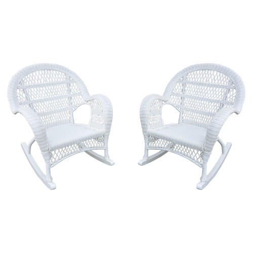 Jeco Inc. Wicker Rocker Chair (Set of 4)
