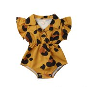PDYLZWZY Newborn Baby Romper Suits Infant Girls Casual Sleeveless Jumpsuit Solid Color Knitted One-Piece Outfits Mh