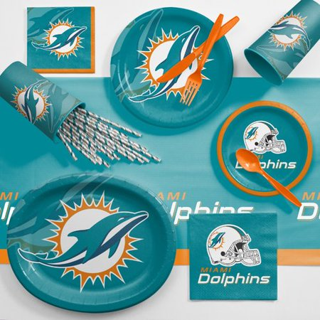 Miami Dolphins Ultimate Fan Party Supplies Kit](Halloween Club Parties In Miami)