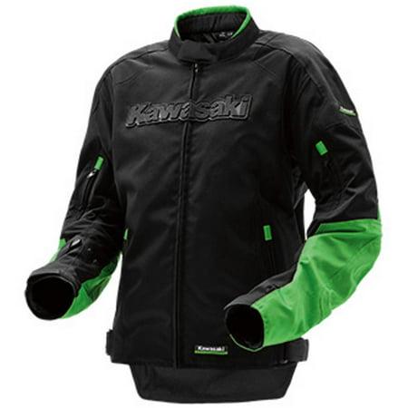 - Kawasaki Limited Edition Riding Textile Jacket Black Green Medium