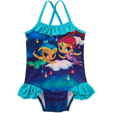 7488be7ec9 ONLINE - Shimmer and Shine Toddler Girl Swim Suit - Walmart.com