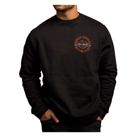 Harley-Davidson Men's Strange Gear Crew Neck Pullover Fleece, Black 5T36-HC71, Harley (Neck Gear)